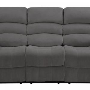40″ Contemporary Grey Fabric Sofa