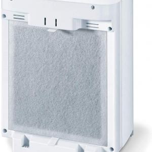 Beurer Air Purifier for Home | 3-Layer HEPA Filter System, 3 Fan Settings | for Germ-Free Ambient Air Without Odors & Dust, Air Filter for Allergies & Pets | Air Cleaner with Sleep Mode & Timer, LR210