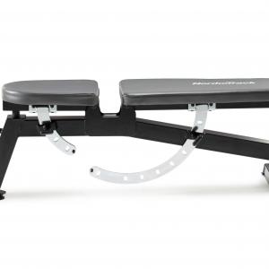 NordicTrack Adjustable Weight Bench with High-Density Foam Backrest and Professional Exercise Chart