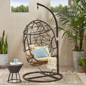 Westley Swinging Egg Outdoor Wicker Chair