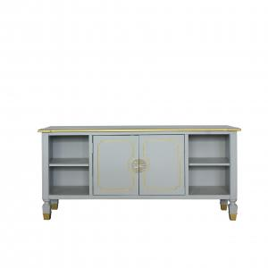 House Marchese TV Stand in Pearl Gray Finish