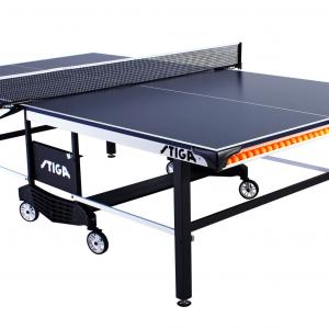 STIGA Tournament Series 385 Indoor Competition-Ready Table Tennis Table with Integrated Ball Storage and Premium Clipper Net and Post