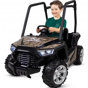 Realtree Whipsaw UTV Ride-On Toy by Kid Trax, rechargeable powered vehicle, boys or girls, camo, ATV