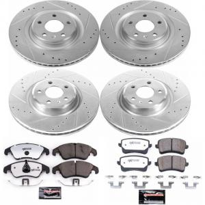 Power Stop Front and Rear Z26 Street Warrior Brake Pad and Rotor Kit K6143-26