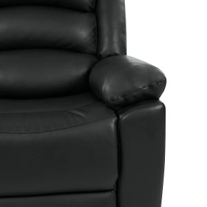 ProLounger Wall Hugger Tufted Storage Reclining Loveseat in Black PU