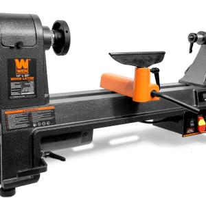 WEN 6-Amp 14-Inch by 20-Inch Variable Speed Benchtop Wood Lathe, 34034