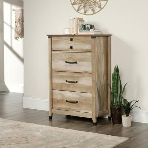 Sauder Carson Forge 4 Drawer Chest, Lintel Oak Finish