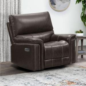 Abbyson Upton Power Recliner, Brown