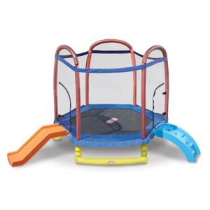 Little Tikes Climb 'n Slide 7' Trampoline, with Enclosure, Blue