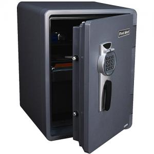 First Alert 2096DF Waterproof and Fire-resistant Digital Safe, 2.1 Cubic-ft