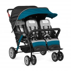 Gaggle Compass 4-Seat Quad Stroller, Teal