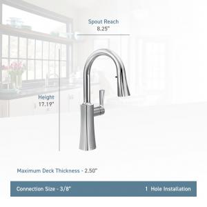 Moen Etch Spot Resist Stainless One-Handle Pulldown Kitchen Faucet