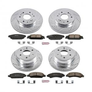 Power Stop Front and Rear Ceramic Brake Pad and Drilled and Slotted Rotor Kit K6560