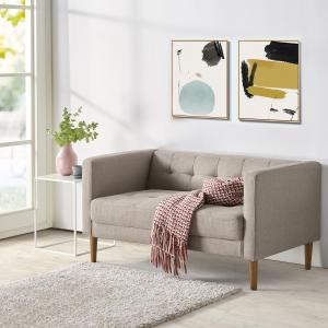 Woven Paths 54″ Loveseat, Oatmeal Grey