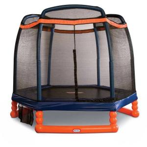 Little Tikes 7-Foot Trampoline, with Enclosure, Blue/Orange