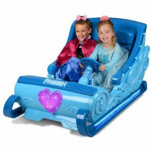 Disney Frozen Sleigh 12-Volt Battery Powered Ride-On for your little Elsa and Anna – Hours of Fun!