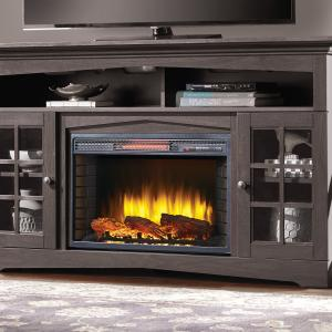 Huntley 59-in Media Electric Fireplace in Espresso