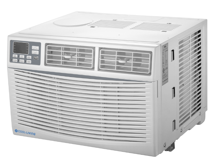 Cool-Living 8,000 BTU 115-Volt Window Air Conditioner with Digital Display and Remote, White