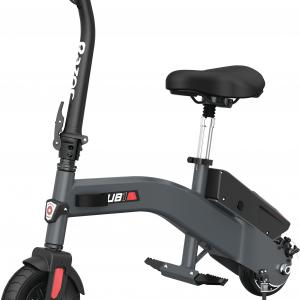 Razor UB1 Lightweight Electric Scooter with Seat, 8″ Air Filled Front Tire, 36V Electric Powered, 250W Motor, Up to 13.5 mph