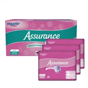 Assurance Incontinence Underwear for Women, Extra Large, 48 Ct