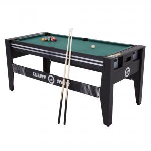 Triumph 72″ 4 in 1 Multi-Game Swivel Table with Air-Powered Hockey, Table Tennis, Billiards, and Launch Football
