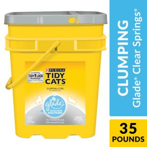 Purina Tidy Cats Clumping Cat Litter, Glade Clear Springs Multi Cat Litter, 35 lb. Pail