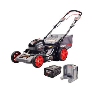 Powerworks 60V 21-inch SP Mower, 5.0Ah Battery and Charger Included, 2503313