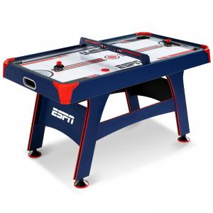 ESPN Air Hockey Table, Overhead Electronic Scorer, Blue/Red, 60″ size, Air Powered Hockey