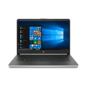 Refurbished HP 14-dk0028wm Notebook 14″ HD Ryzen 3 3200U 2.6GHz 4GB RAM 128GB SSD Win 10 Home S Whisper Silver