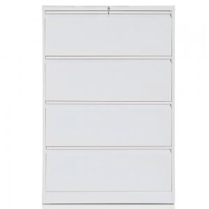 Multi-function Lateral File Cabinet with Lock, 4 Drawer (White)