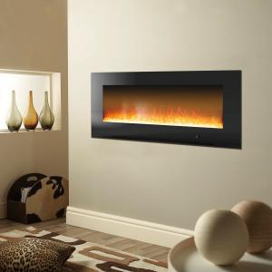 Cambridge Metropolitan Wall Mount Electric Fireplace Heater, 56″