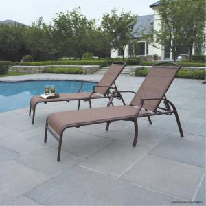 Mainstays Sand Dune Outdoor Chaise Lounges for Patio, Tan, Set of 2