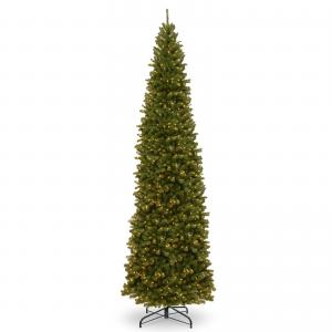 14 ft. North Valley Spruce Pencil Slim Tree with Clear Lights