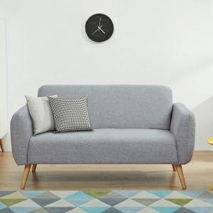 A&D Home Linda Loveseat Sofa, Light Grey