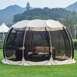 15'x15′ Gazebo Pop Up with Mosquito Netting Portable Beige