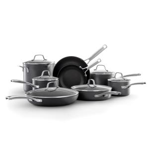 Select by Calphalon Hard-Anodized Nonstick Pots and Pans, 14-Piece Cookware Set in Black