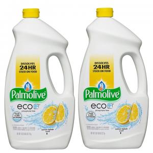 (2 Pack) Palmolive Eco Gel Dishwasher Detergent, Lemon Splash, 75 Fl Oz
