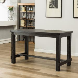 Leviton Antique Black Finished Wood 5-Piece Counter Height Dining Set, Gray