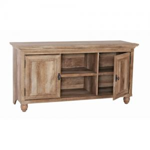 Better Homes & Gardens Crossmill Collection TV Stand & Console Cabinet for TVs up to 65″, Weathered Finish