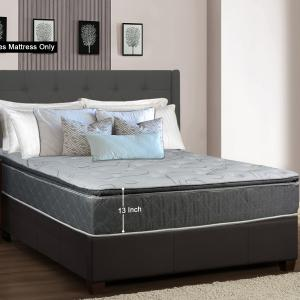 GOWTUN, 13-Inch Meduim Plush Foam Encased Hybrid Pillowtop Innerspring Fully Assembled Mattress, Good For The Back, California King Size
