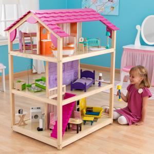KidKraft Wooden So Chic Dollhouse with 46 Accessories Included