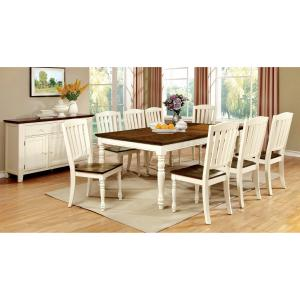 Furniture of America Lankton Wooden Dining Table, Vintage White