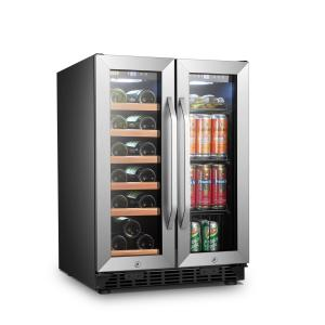 Lanbo 18 Bottle 55 Cans Built-in Wine and Beverage Refrigerator, 24 Inch Wide