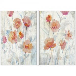 Watercolor Blooms Diptych