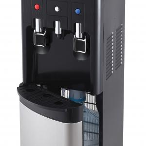 Primo hTRiO Bottom Loading Hot and Cold Water Dispenser with Single Serve Brewing, Black/Stainless