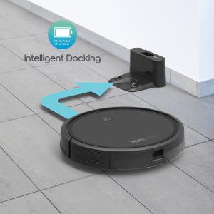 "ionVac Robot Vacuum, Powerful (2000Pa Suction) Wi-Fi Connected, Hardwood to Medium Pile Carpet Floor Cleaning, Self-Charging ""Smart"" Vacuum Controlled Via Mobile App or Voice Activated Commands"
