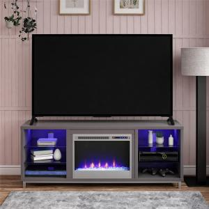 Ameriwood Lumina Fireplace TV Stand for TVs up to 70″ Wide, Multiple Colors