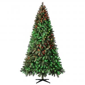 Evergreen Classics® Twinkly™ Carolina Spruce Quick Set® Artificial Christmas Tree, 7.5′, App-Controlled RGB Lights