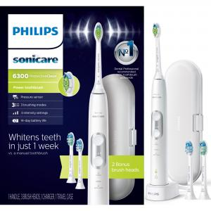 Philips Sonicare ProtectiveClean 6300 Rechargeable Electric Toothbrush, HX6463/50
