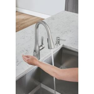 Moen Arlo MotionSense Wave Spot Resist Stainless One-Handle Pulldown Kitchen Faucet